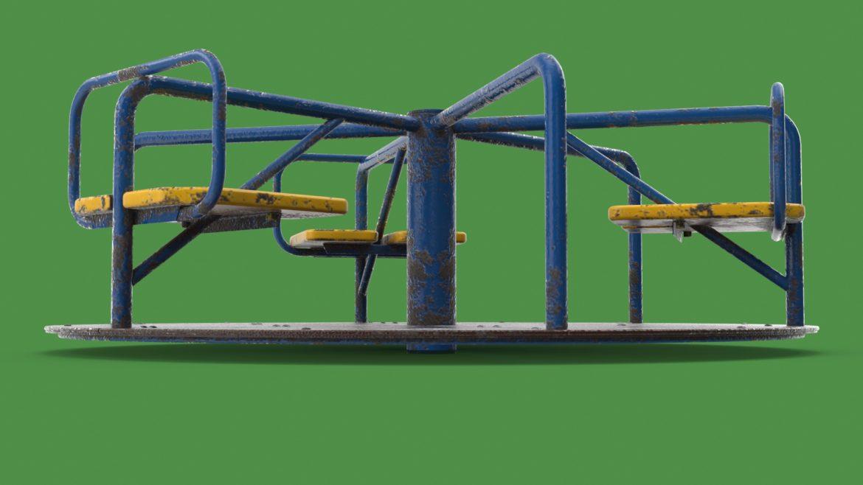 playground carousel 3d model 3ds max fbx dae  obj 308039