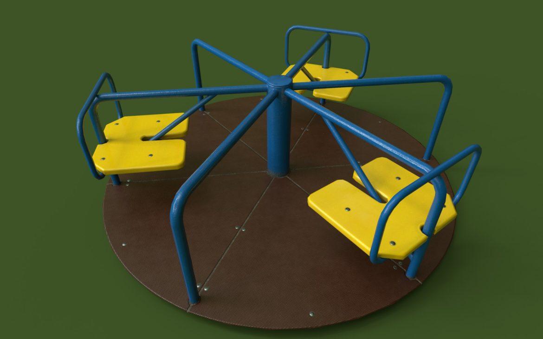 playground carousel 3d model 3ds max fbx dae  obj 308041