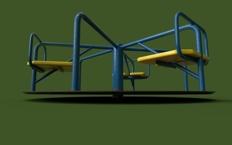 playground carousel 3d model 3ds max fbx dae  obj 308043