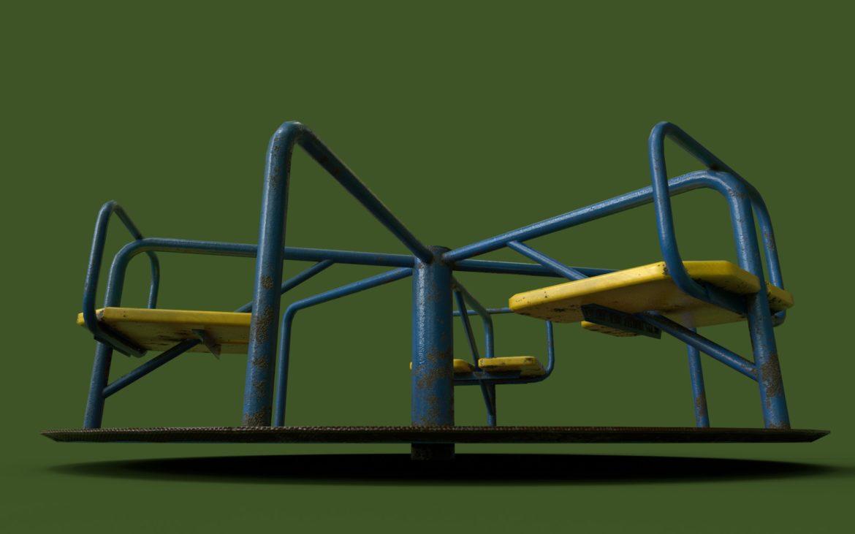 playground carousel 3d model 3ds max fbx dae  obj 308046