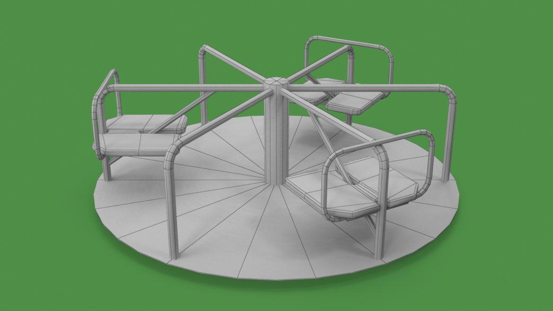 playground carousel 3d model 3ds max fbx dae  obj 308047