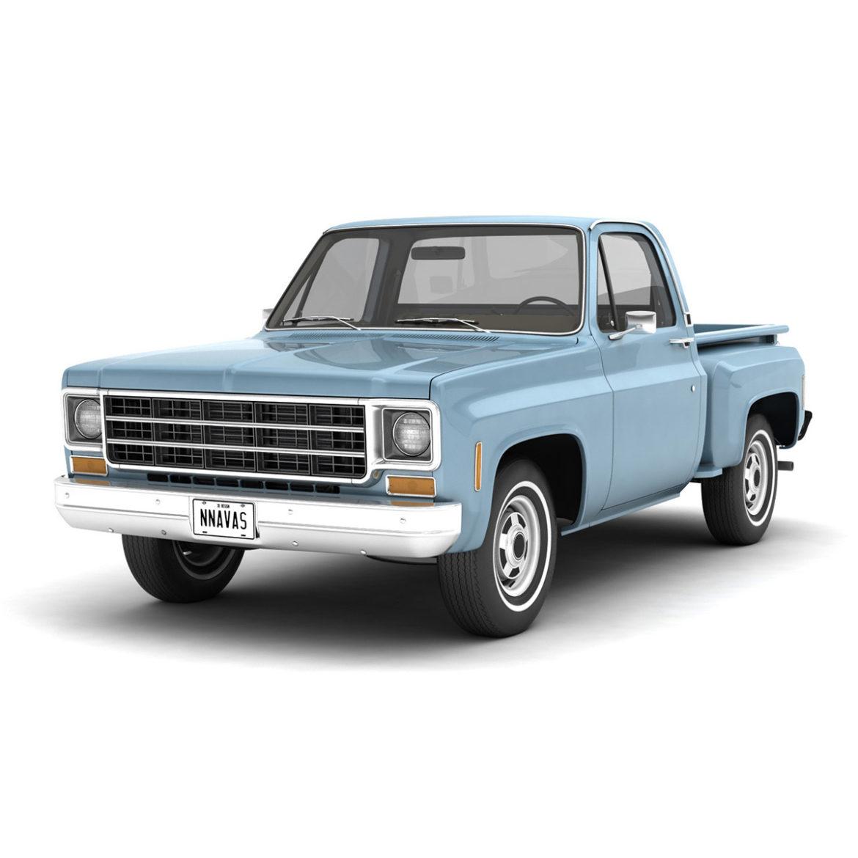 generic step side pickup truck 10 3d model 3ds max fbx obj 308185