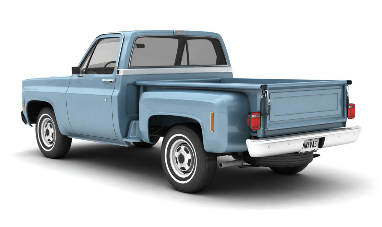 generic step side pickup truck 10 3d model 3ds max fbx obj 308186