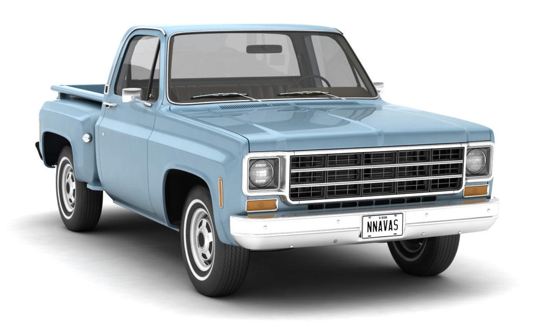 generic step side pickup truck 10 3d model 3ds max fbx obj 308187