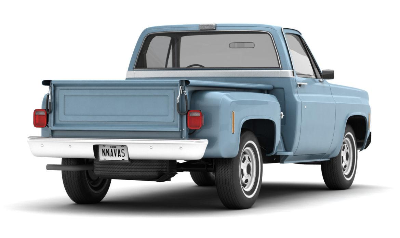 generic step side pickup truck 10 3d model 3ds max fbx obj 308188