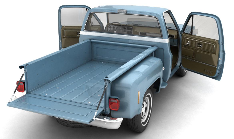 generic step side pickup truck 10 3d model 3ds max fbx obj 308189