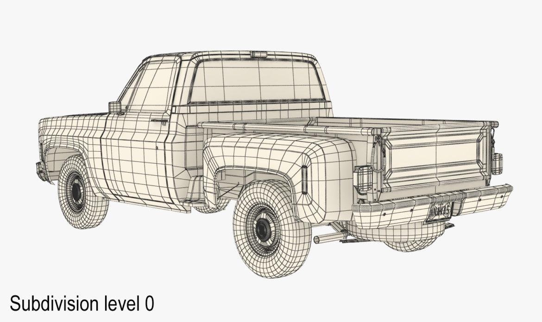 generic step side pickup truck 10 3d model 3ds max fbx obj 308190
