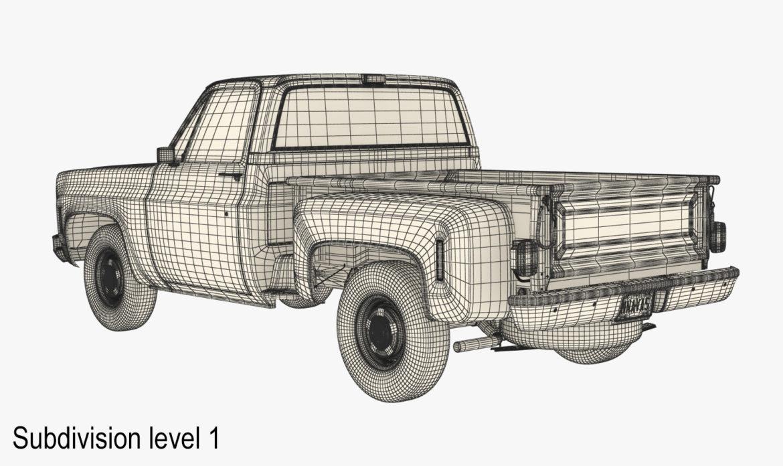 generic step side pickup truck 10 3d model 3ds max fbx obj 308191
