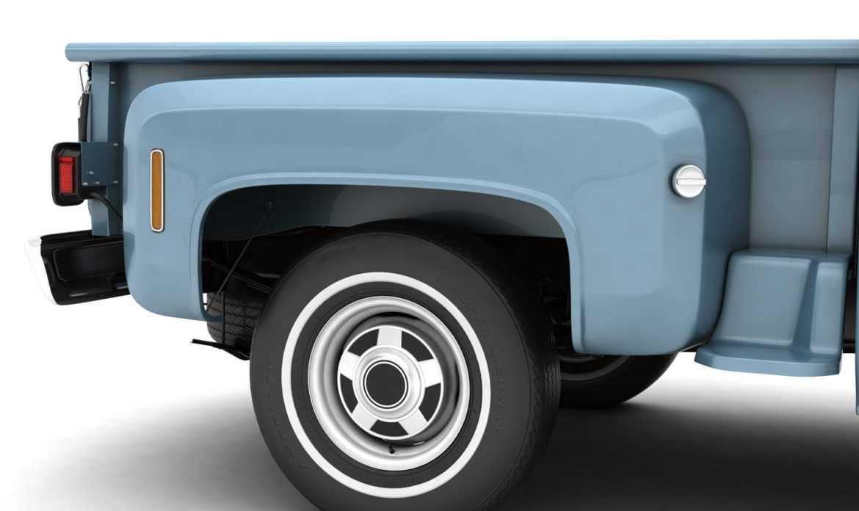 generic step side pickup truck 10 3d model 3ds max fbx obj 308193