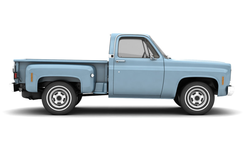 generic step side pickup truck 10 3d model 3ds max fbx obj 308196