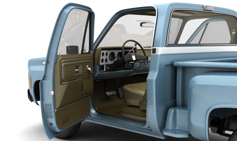 generic step side pickup truck 10 3d model 3ds max fbx obj 308198