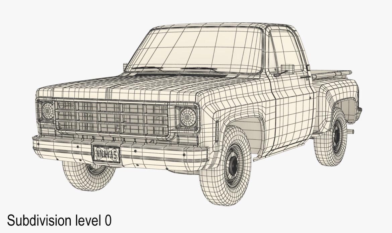 generic step side pickup truck 10 3d model 3ds max fbx obj 308201