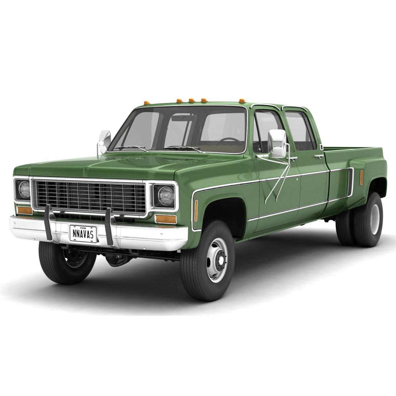 generic 4wd dually pickup truck 9 3d model 3ds max fbx obj 308203