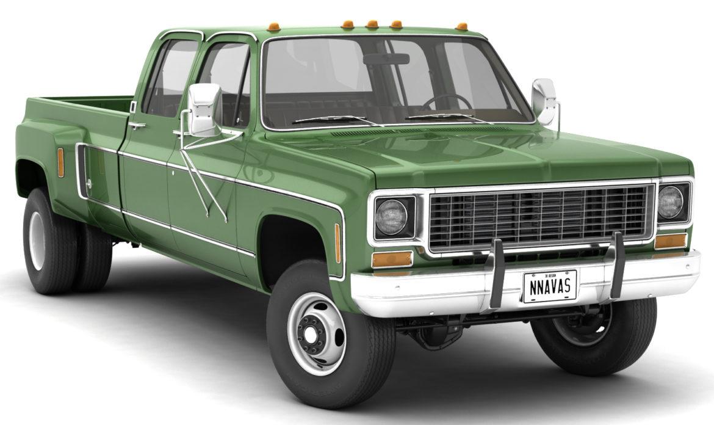 generic 4wd dually pickup truck 9 3d model 3ds max fbx obj 308205