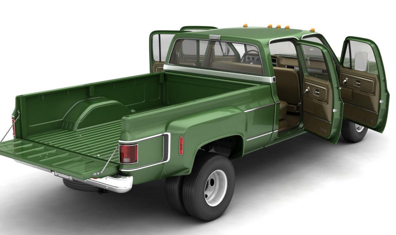 generic 4wd dually pickup truck 9 3d model 3ds max fbx obj 308207