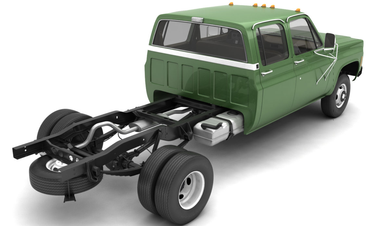 generic 4wd dually pickup truck 9 3d model 3ds max fbx obj 308217