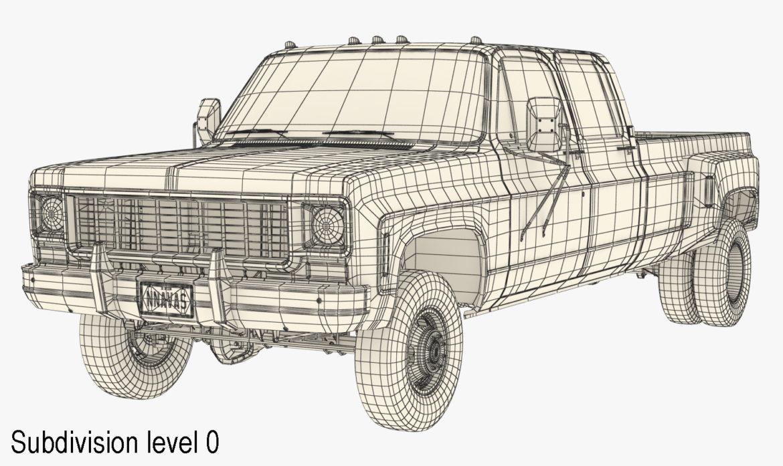 generic 4wd dually pickup truck 9 3d model 3ds max fbx obj 308219