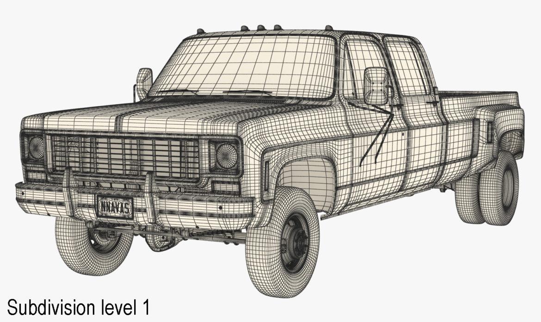 generic 4wd dually pickup truck 9 3d model 3ds max fbx obj 308220