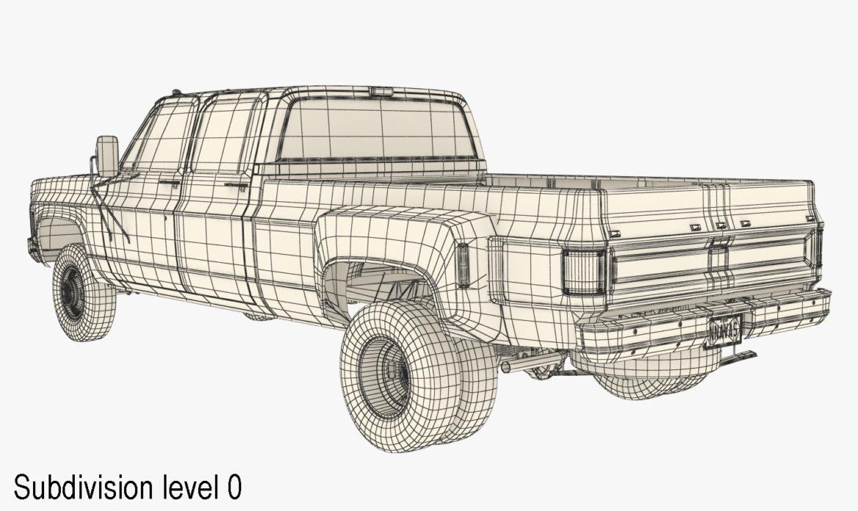 generic 4wd dually pickup truck 9 3d model 3ds max fbx obj 308221