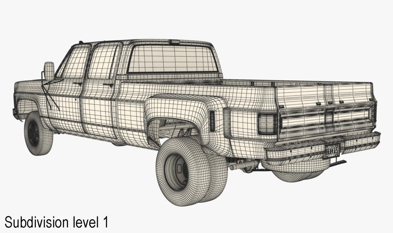 generic 4wd dually pickup truck 9 3d model 3ds max fbx obj 308222