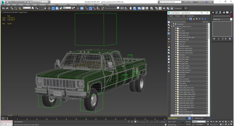generic 4wd dually pickup truck 9 3d model 3ds max fbx obj 308223