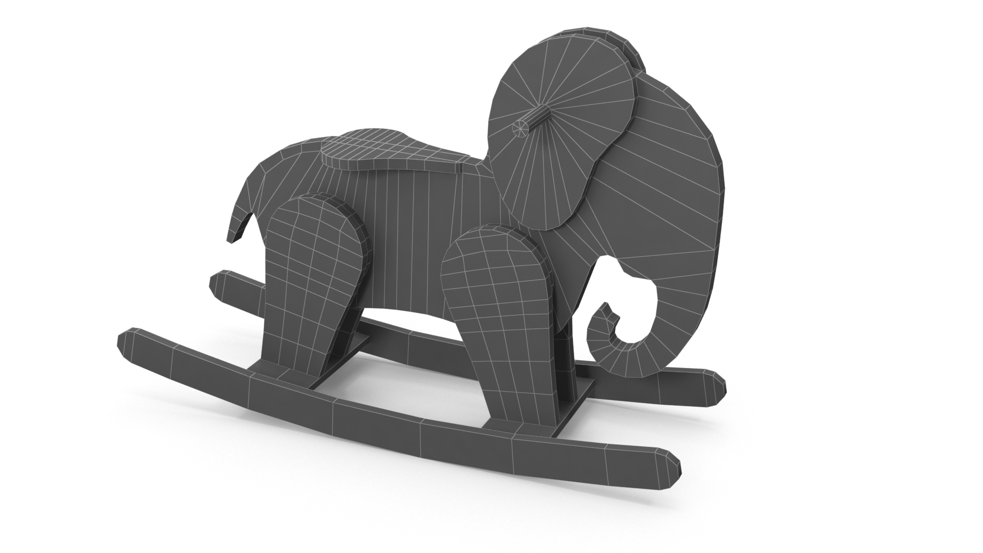 Wooden Elephant Rocking Horse 3d Model Flatpyramid
