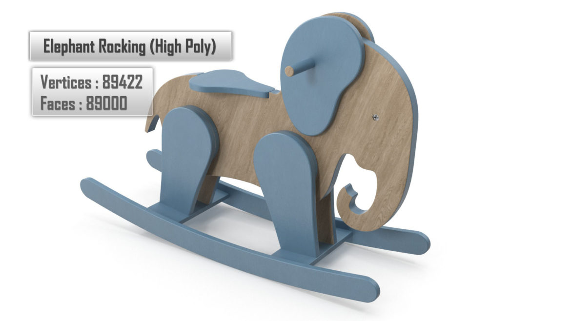 wooden elephant rocking horse 3d model 3ds max fbx dae  obj 308383