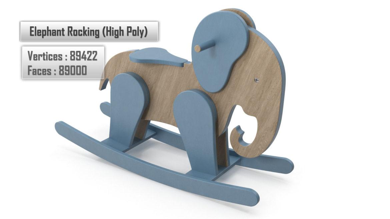 koka ziloņu šūpuļzirgs 3d modelis 3ds max fbx dae obj 308383