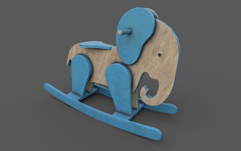 koka ziloņu šūpuļzirgs 3d modelis 3ds max fbx dae obj 308384