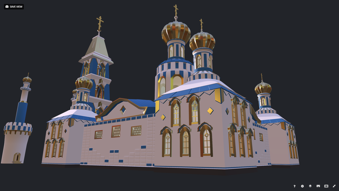 russian cathedral -temple – church 3d model fbx 308560