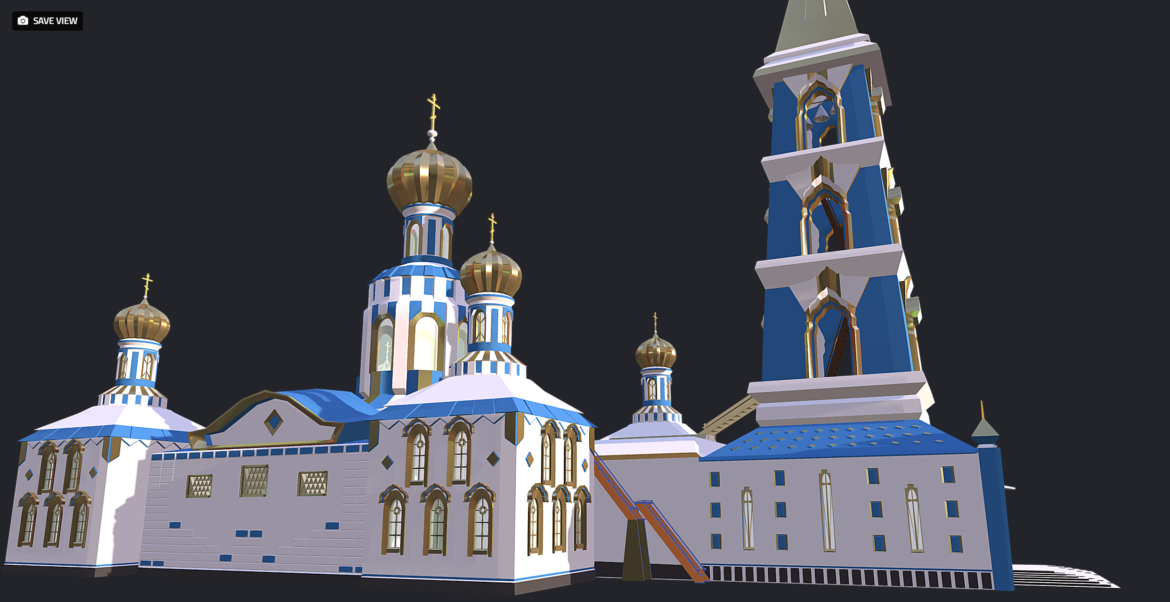 russian cathedral -temple – church 3d model fbx 308561