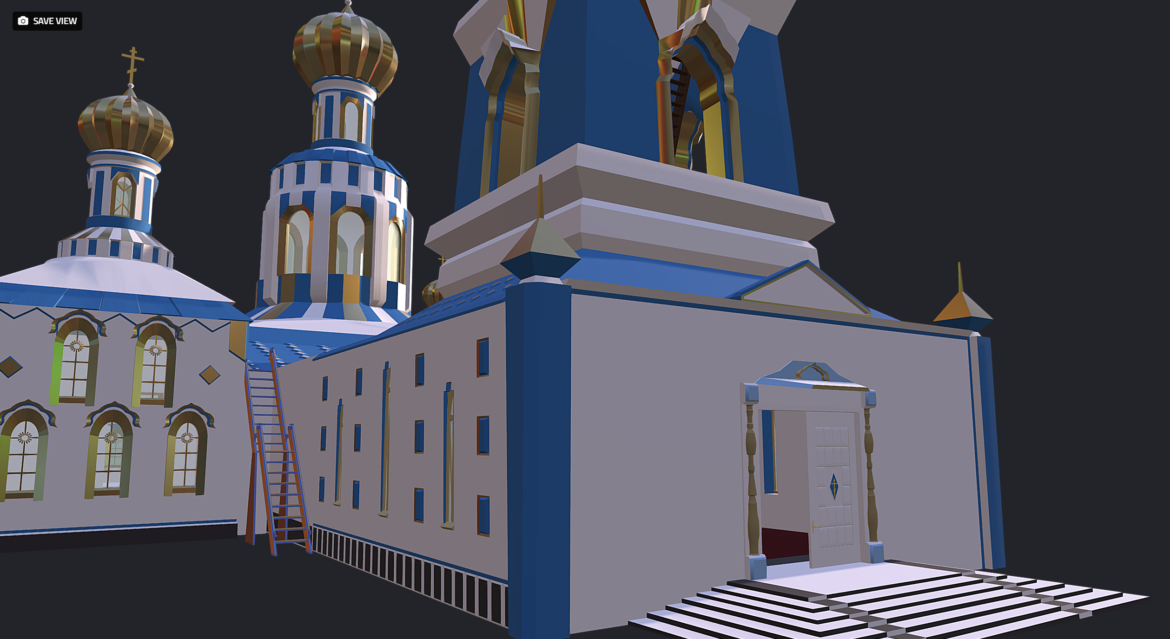 russian cathedral -temple – church 3d model fbx 308562