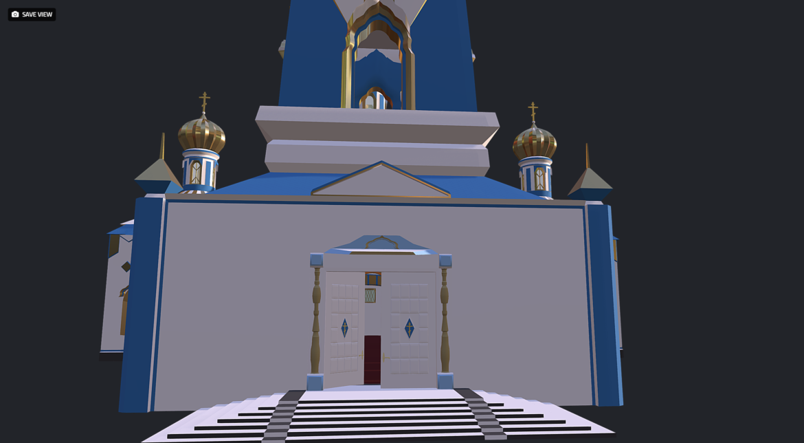 russian cathedral -temple – church 3d model fbx 308563