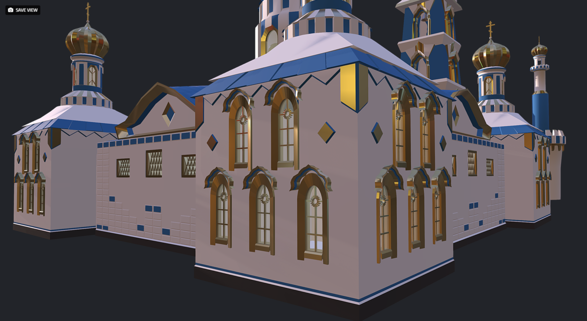 russian cathedral -temple – church 3d model fbx 308567