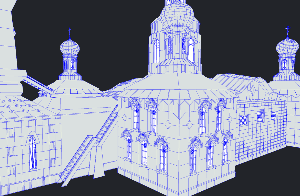 russian cathedral -temple – church 3d model fbx 308576