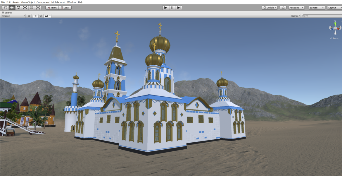 russian cathedral -temple – church 3d model fbx 308577
