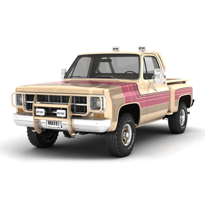 generic 4wd stepside pickup truck 11 3d model 3ds max fbx obj 309098