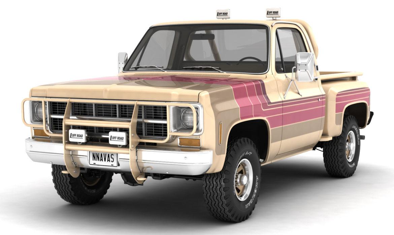 generic 4wd stepside pickup truck 11 3d model 3ds max fbx obj 309099