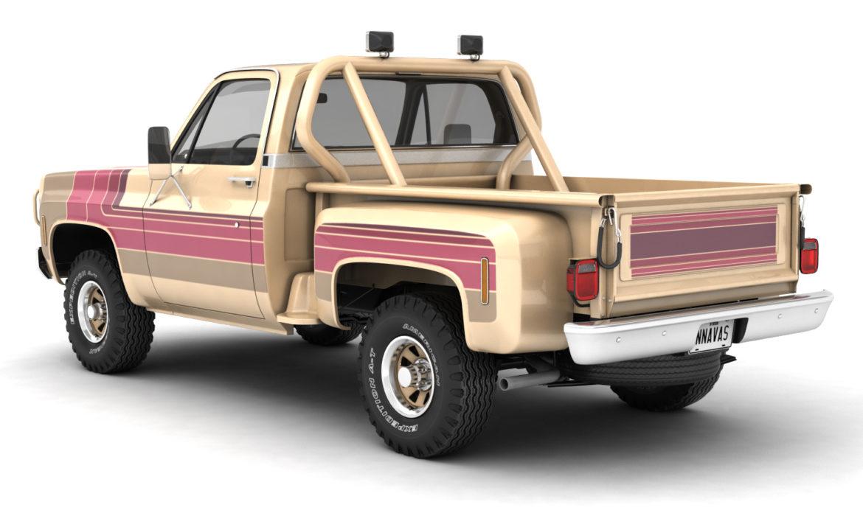 generic 4wd stepside pickup truck 11 3d model 3ds max fbx obj 309100