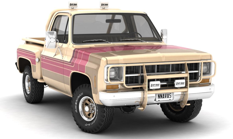 generic 4wd stepside pickup truck 11 3d model 3ds max fbx obj 309101