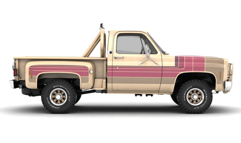 generic 4wd stepside pickup truck 11 3d model 3ds max fbx obj 309102
