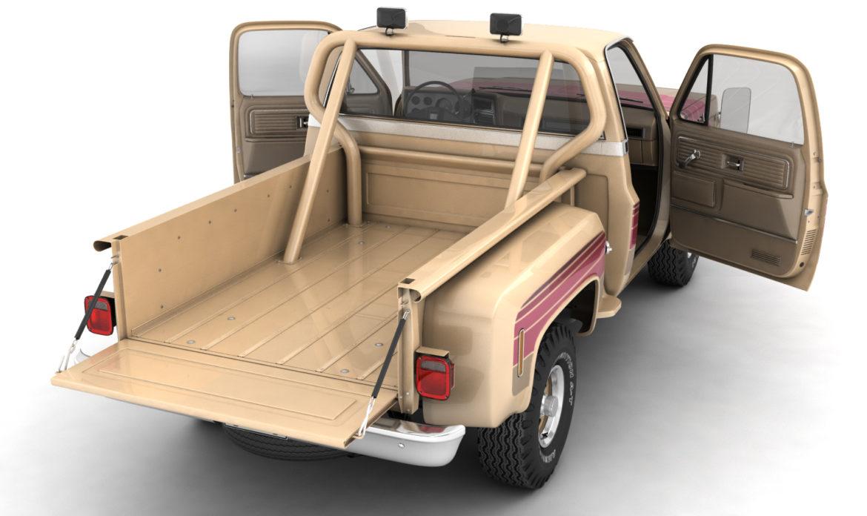generic 4wd stepside pickup truck 11 3d model 3ds max fbx obj 309103