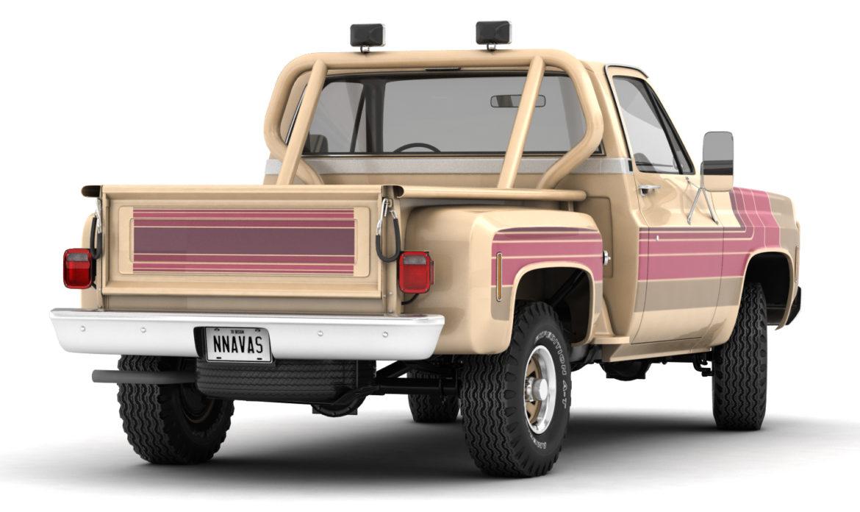 generic 4wd stepside pickup truck 11 3d model 3ds max fbx obj 309104