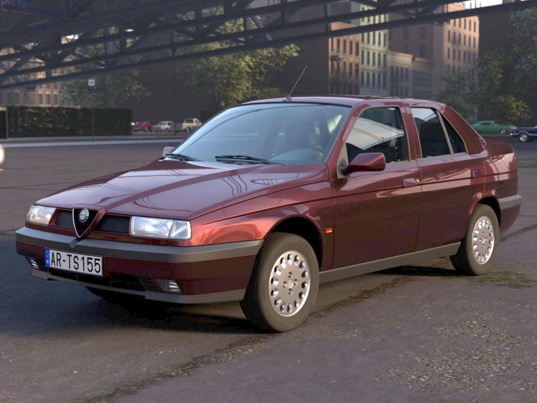 alfa romeo 155 1993 3d modelis 3ds max fbx c4d dae obj 309115