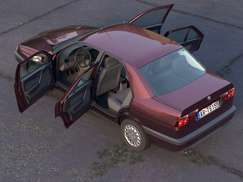 alfa romeo 155 1993 3d modelis 3ds max fbx c4d dae obj 309116