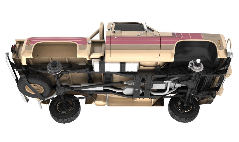 generic 4wd stepside pickup truck 11 3d model 3ds max fbx obj 309296