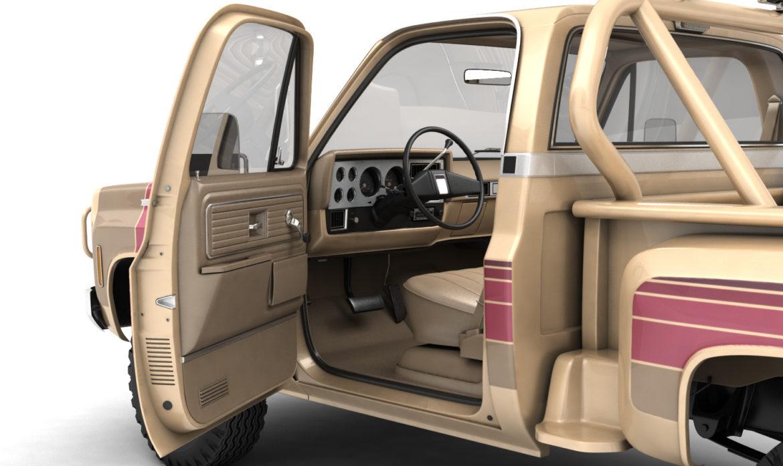 generic 4wd stepside pickup truck 11 3d model 3ds max fbx obj 309297