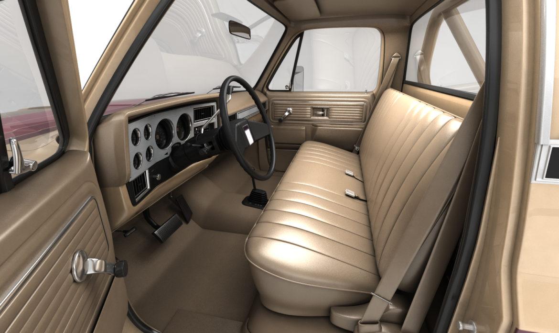 generic 4wd stepside pickup truck 11 3d model 3ds max fbx obj 309298
