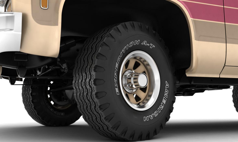generic 4wd stepside pickup truck 11 3d model 3ds max fbx obj 309303