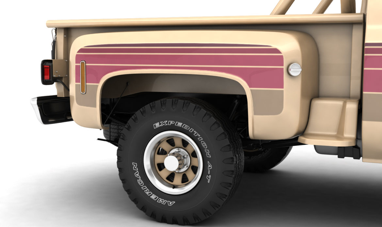 generic 4wd stepside pickup truck 11 3d model 3ds max fbx obj 309304